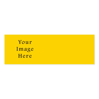 Freesia Bright Yellow Color Trend Blank Template Pack Of Skinny Business Cards