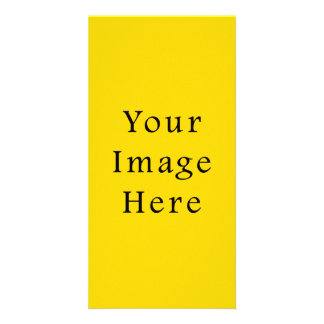 Freesia Bright Yellow Color Trend Blank Template Photo Cards