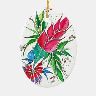Freesia Ceramic Oval Decoration