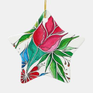 Freesia Ceramic Star Decoration