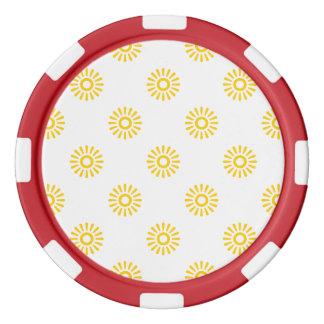 Freesia Flower 6 Poker Chips Set