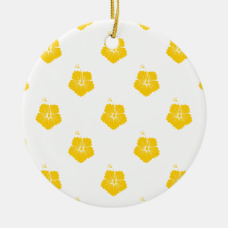 Freesia Flower Pattern 3 Christmas Tree Ornament
