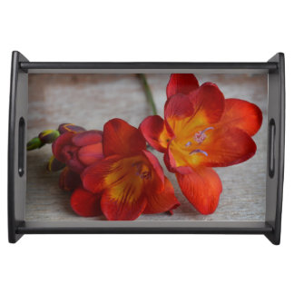 Freesia Flower Serving Tray