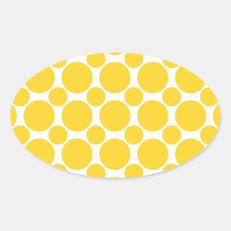Freesia Polka Dot 2 Oval Sticker