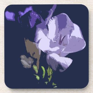 Freesia Purple Flower Cork Coaster