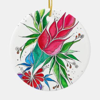 Freesia Round Ceramic Decoration