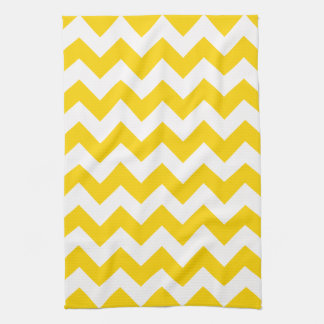 Freesia Yellow Chevron Zigzag Kitchen Towels