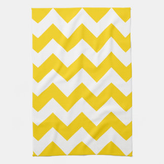 Freesia Yellow Chevron Zigzag Kitchen Towels