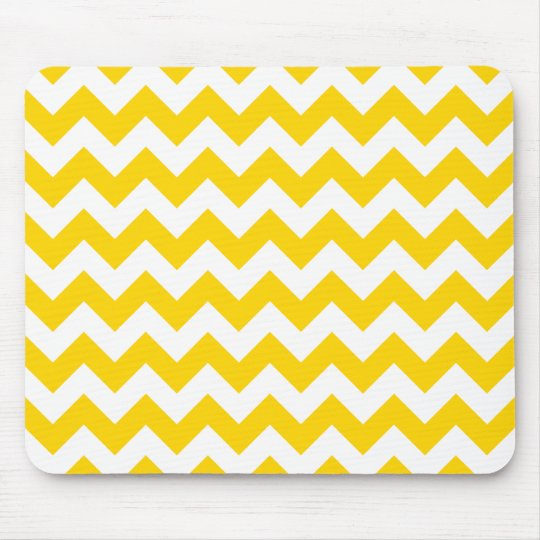 Freesia Yellow Chevron Zigzag Mouse Mat