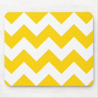 Freesia Yellow Chevron Zigzag Mousepads