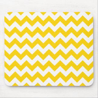 Freesia Yellow Chevron Zigzag Mouse Pad