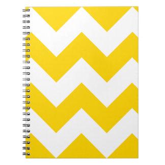 Freesia Yellow Chevron Zigzag Notepad Notebooks