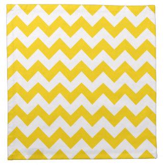 Freesia Yellow Chevron Zigzag Pattern Cloth Napkin