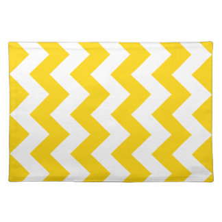 Freesia Yellow Chevron Zigzag Placemats