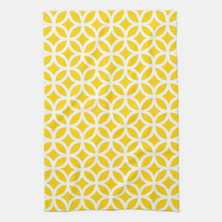 Freesia Yellow Geometric Kitchen Towel