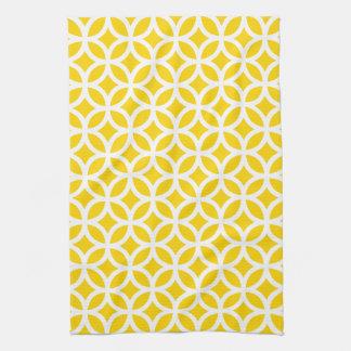 Freesia Yellow Geometric Kitchen Towel