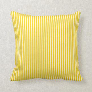 Freesia Yellow Striped Pillow
