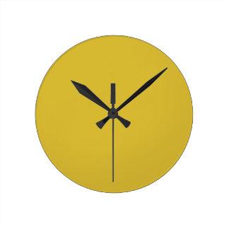 Freesia Yellow Wall Clock
