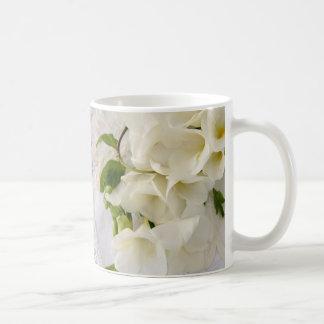 freesias on lace big mug
