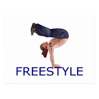 Freestyle B Boy Postcard