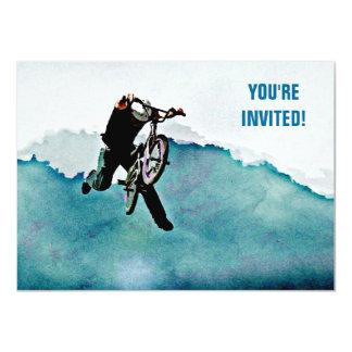 Freestyle BMX Bicycle Stunt 11 Cm X 16 Cm Invitation Card