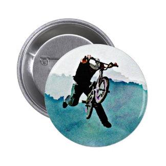 Freestyle BMX Bicycle Stunt 6 Cm Round Badge