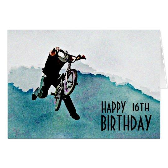 Freestyle BMX Bicycle Stunt Card