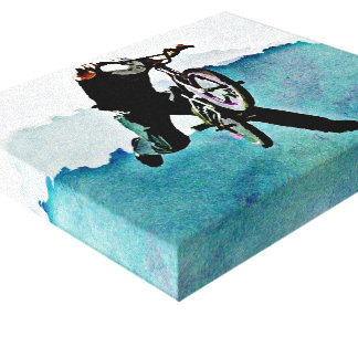 Freestyle BMX Bicycle Stunt Gallery Wrap Canvas