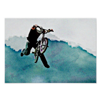 Freestyle BMX Bicycle Stunt Poster