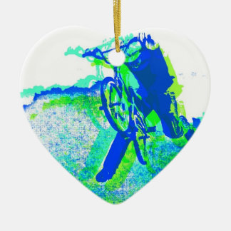 Freestyle BMX Rider in Cool Pop Art Style Christmas Ornament