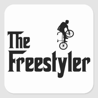 Freestyle BMX Square Sticker