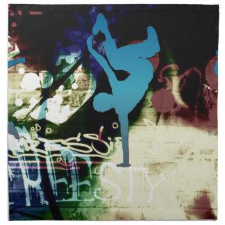 Freestyle Break Dance Graffiti Cloth Napkins