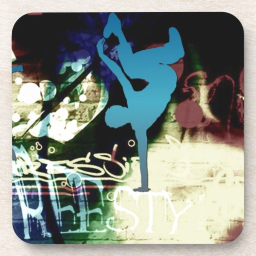 Freestyle Break Dance Graffiti Drink Coaster