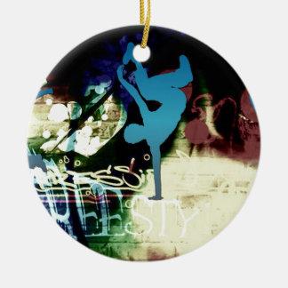 Freestyle Break Dance Graffiti Christmas Tree Ornament