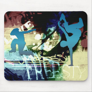 Freestyle Break Dance Graffiti Mouse Pad