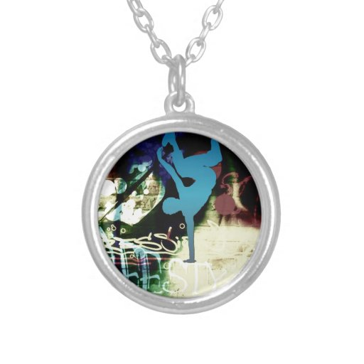 Freestyle Break Dance Graffiti Personalized Necklace