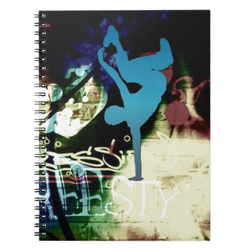 Freestyle Break Dance Graffiti Spiral Note Books