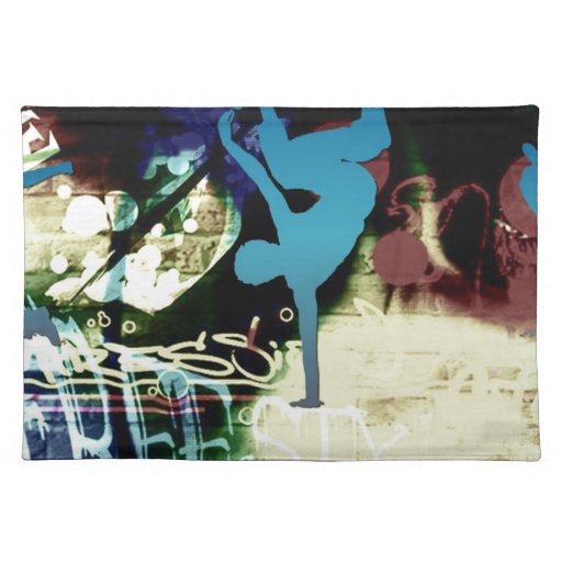 Freestyle Break Dance Graffiti Placemat