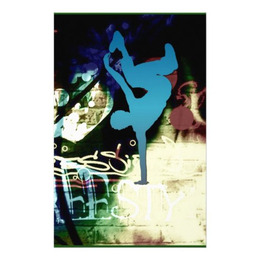 Freestyle Break Dance Graffiti Stationery