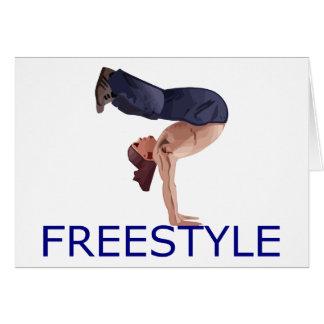 Freestyle Breakdancing  B Boy Greeting Card