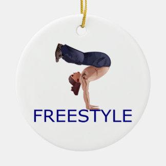 Freestyle Breakdancing  B Boy Round Ceramic Decoration