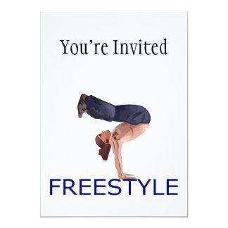 Freestyle Breakdancing  B Boy 13 Cm X 18 Cm Invitation Card