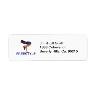 Freestyle Breakdancing  B Boy Return Address Label