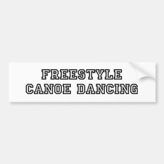 Freestyle Canoe Dancing Bumper Bumper Sticker