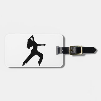 Freestyle dancing girl bag tags