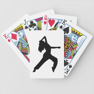 Freestyle dancing girl card deck