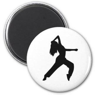 Freestyle dancing girl fridge magnet