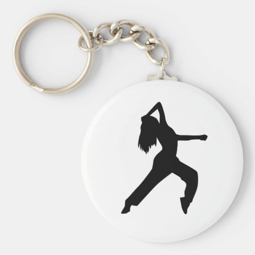 Freestyle dancing girl key chain