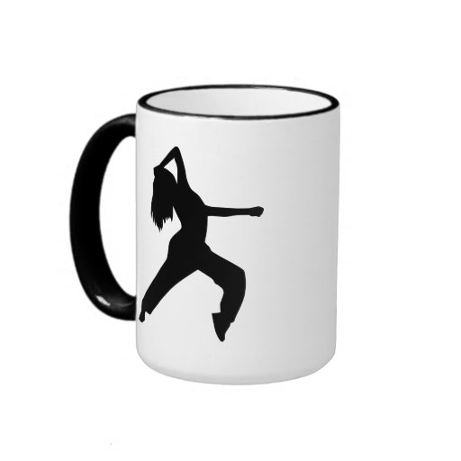 Freestyle dancing girl coffee mugs