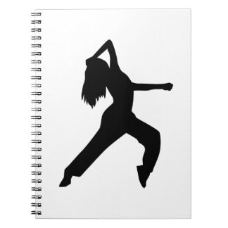 Freestyle dancing girl note book